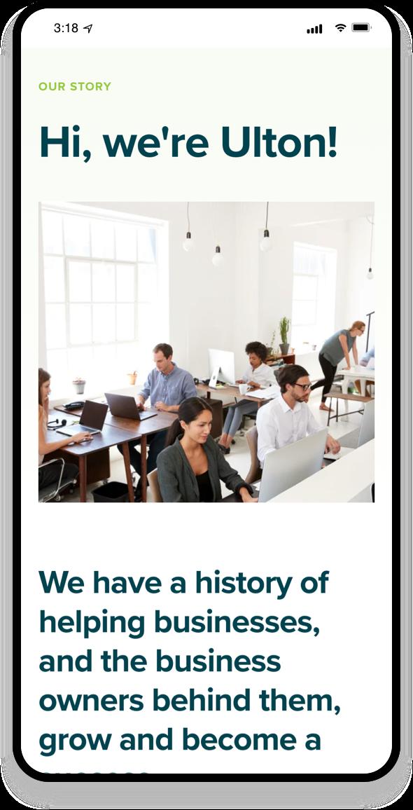 Ulton Financial Mobile-first 2