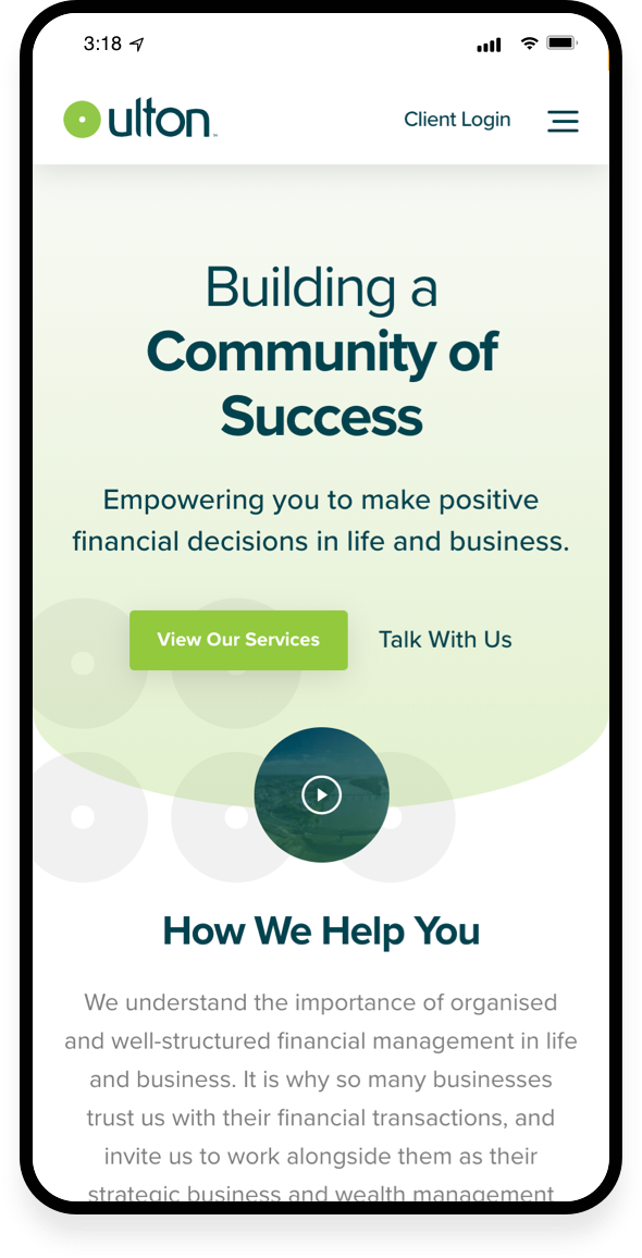 Ulton Financial Mobile-first 3