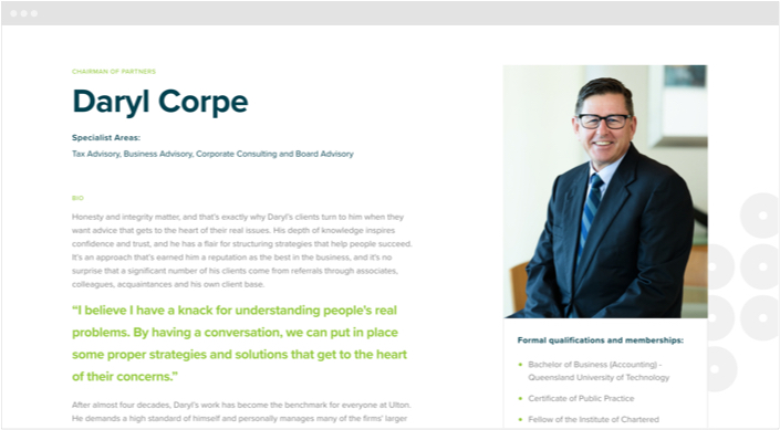 Ulton Financial Website Designs Panel1