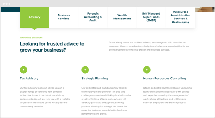 Ulton Financial Website Designs Panel2