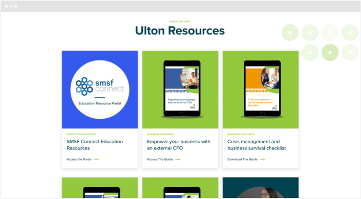 Ulton Financial Website Designs Panel3