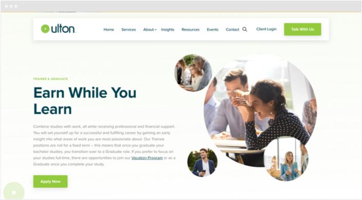 Ulton Financial Website Designs Panel8