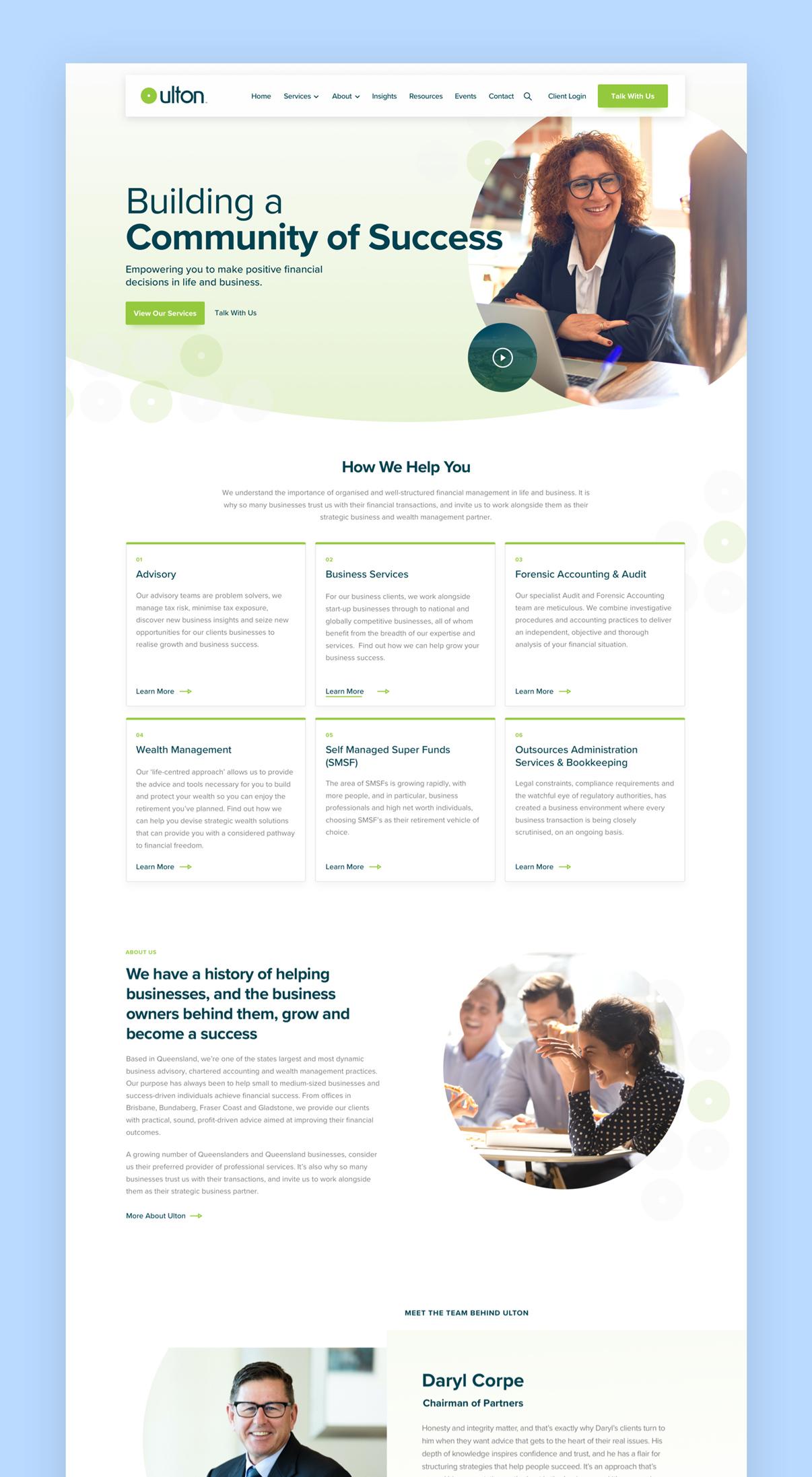 Ulton Financial Website Page 1