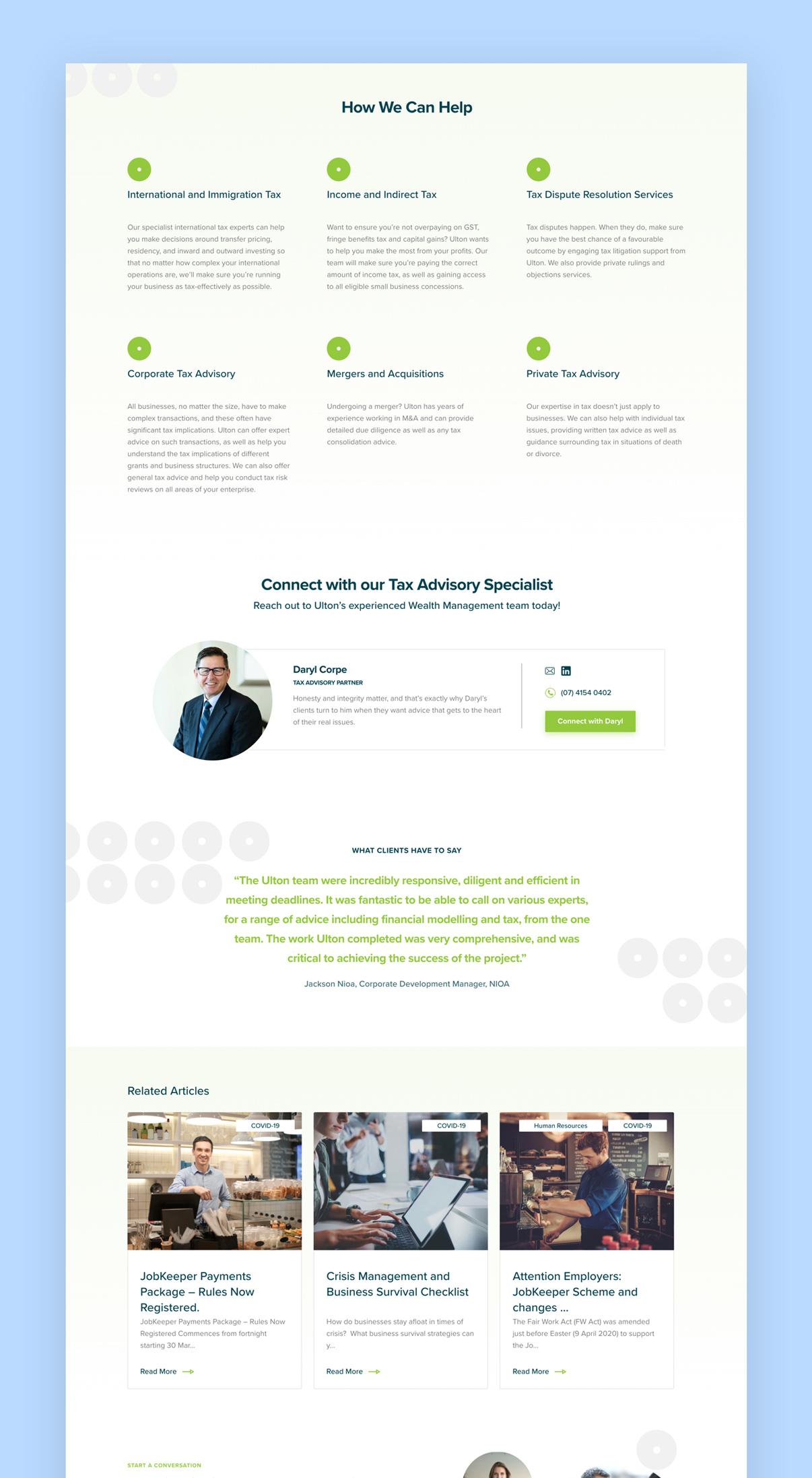 Ulton Financial Website Page 2