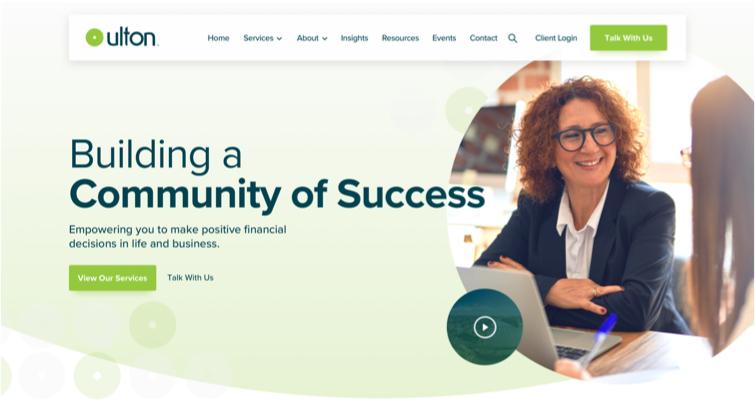 Ulton Financial Website colour panel 1